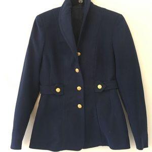 Authentic Navy gold button nautical blazer